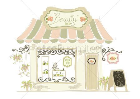Awning : Beauty shop