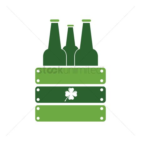 17 : Beer bottles in wooden box