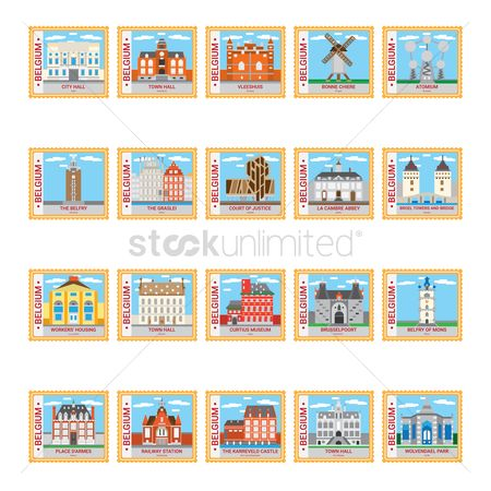 Belgium : Belgium stamp collection