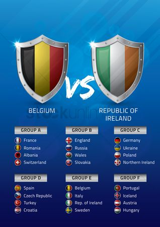 Ukraine : Belgium vs republic of ireland