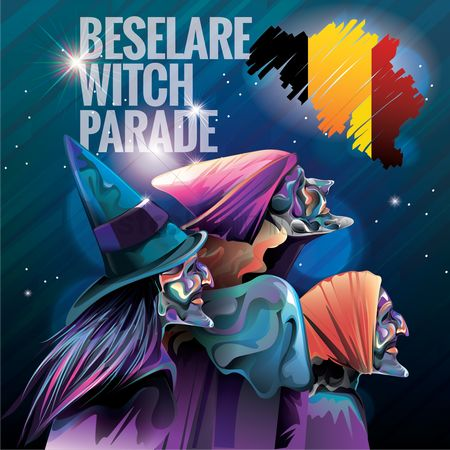 Belgium : Beselare witch parade