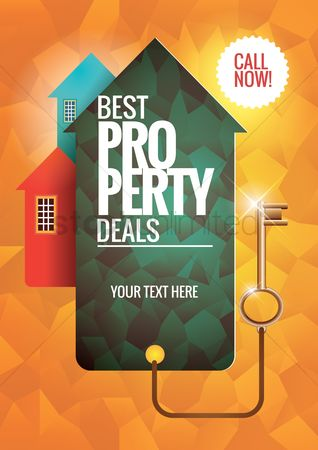 Real estate : Best property deals poster
