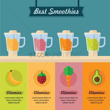 Fruit : Best smoothies infographic