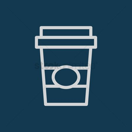 Take away cup : Beverage in a paper cup