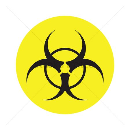 Caution : Bio hazard symbol