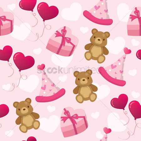 Teddybear : Birthday background