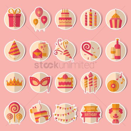 Signages : Birthday celebration collection set