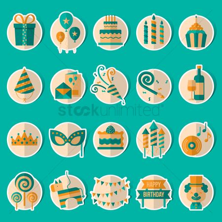 Slices : Birthday celebration collection set