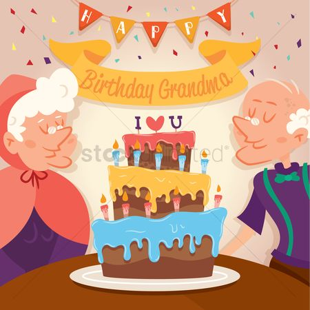 Grandparent : Birthday celebrations of grandma and grand father