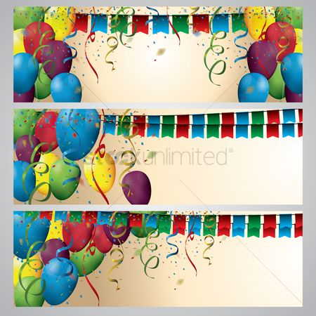 Flag : Birthday decoration with copy space