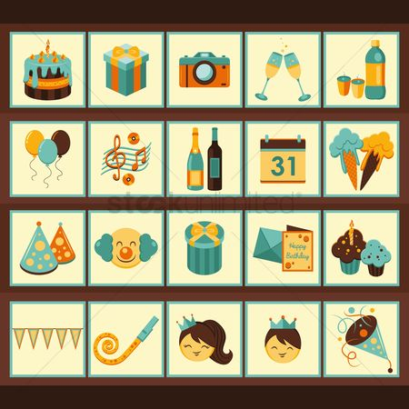 Gifts : Birthday icons