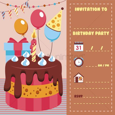 Address : Birthday invitation card