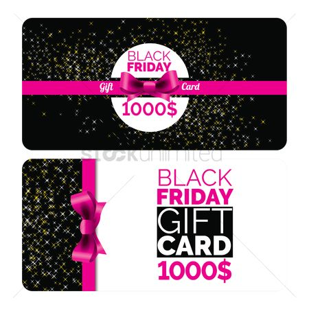 Discounts : Black friday gift card