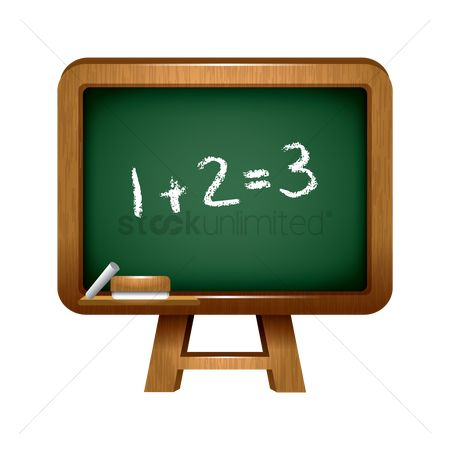 Teaching : Blackboard with mathematical calculation