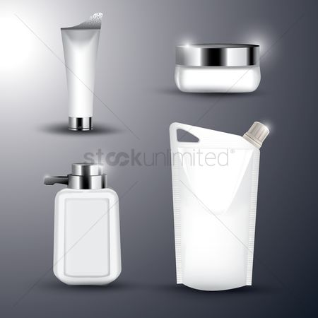 Cosmetic : Blank packaging collection