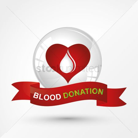 Heart : Blood donation banner