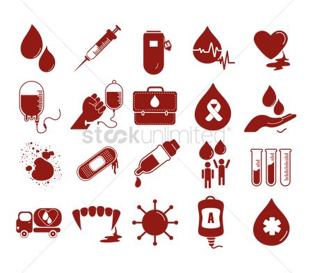 Lorries : Blood transfusion icons collection