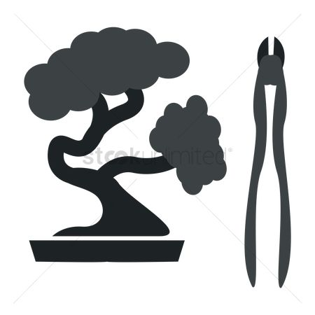 Cutters : Bonsai tree with cutter tool