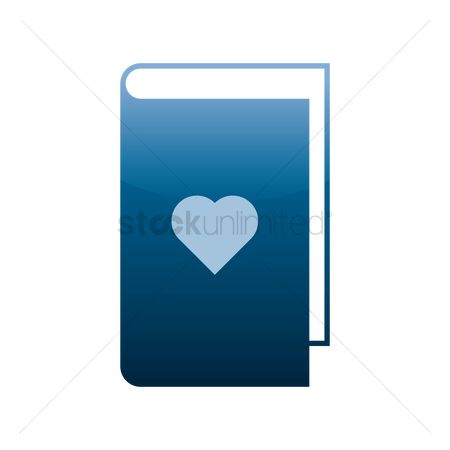 Hardcovers : Book icon with heart