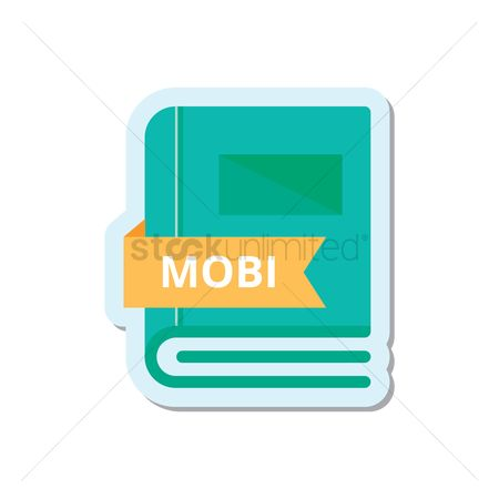 Stories : Book with mobi format icon