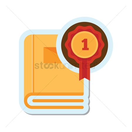 Reward : Book with rosette icon