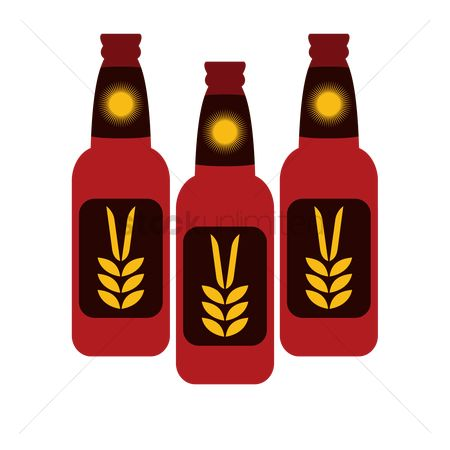 Pub : Bottles of german wheat beer