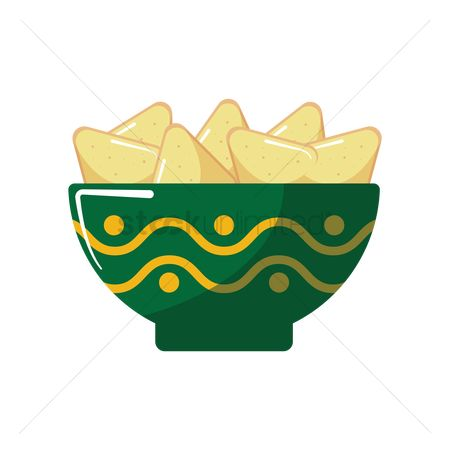 Crispy : Bowl of nachos