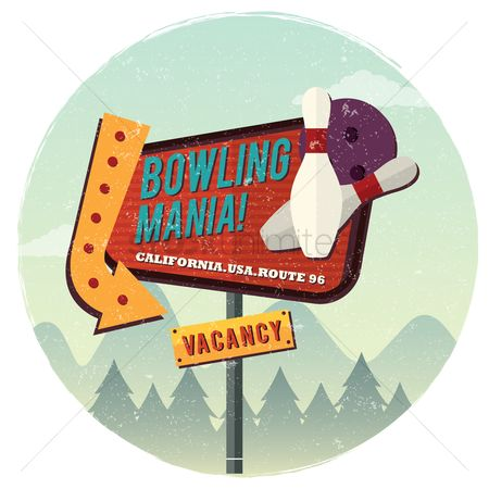 Old fashioned : Bowling mania background