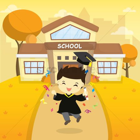Achievement : Boy graduated from school