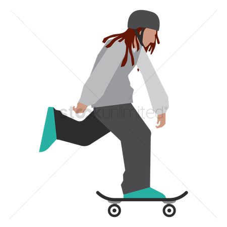 Skateboard : Boy on skateboard