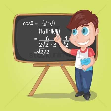 Teaching : Boy teaching trigonometric in class