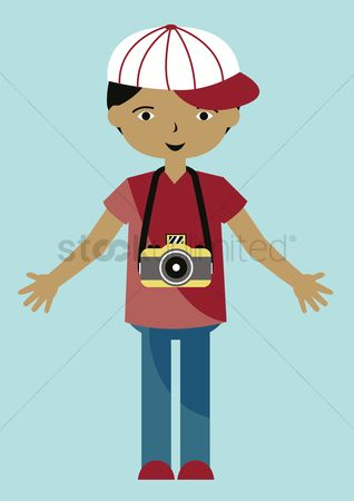 Photographers : Boy with camera
