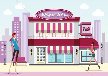 Awning : Bridal shop
