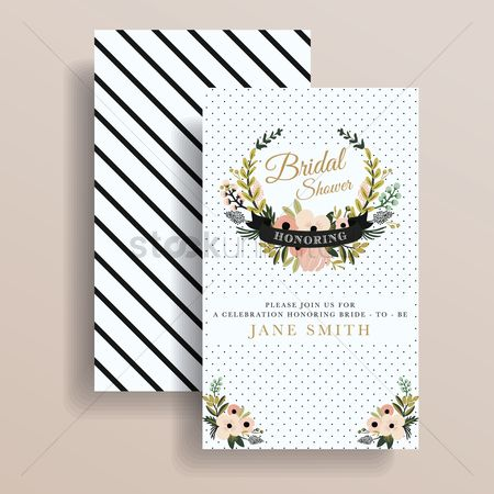 Retro : Bridal shower invitation