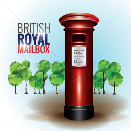 England : British royal mailbox