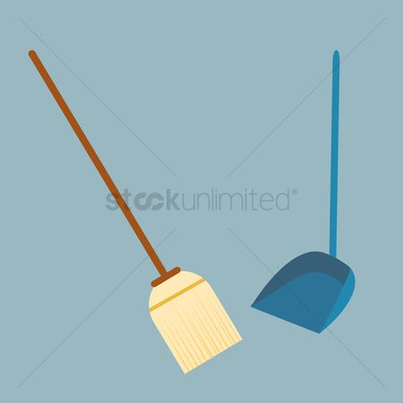 Brooms : Broom and dustpan