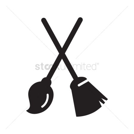 Broom : Broomstick and cleaning mop