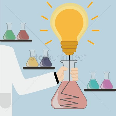 Chemicals : Bulb in laboratory