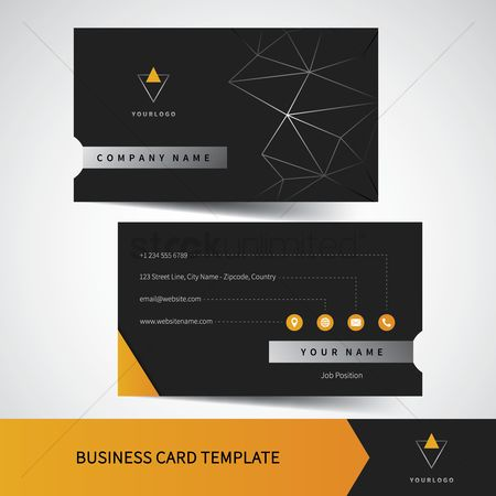 Address : Business card template