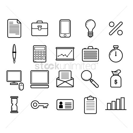 Linear : Business icon set