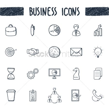 Achievement : Business icons set