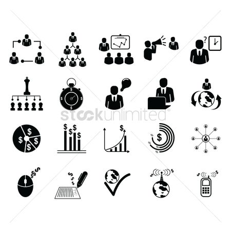 Currencies : Business icons