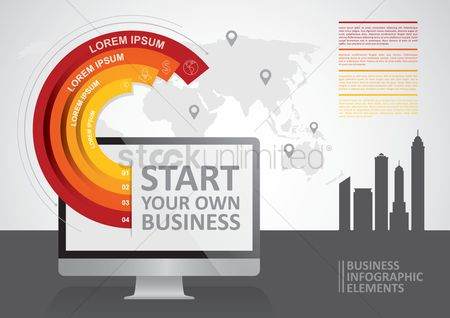 Building : Business infographic elements