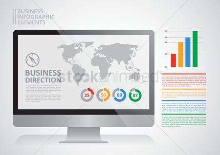 Digits : Business infographic