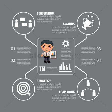 Dartboards : Business infographic