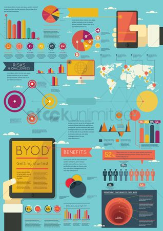Electronic : Business infographic