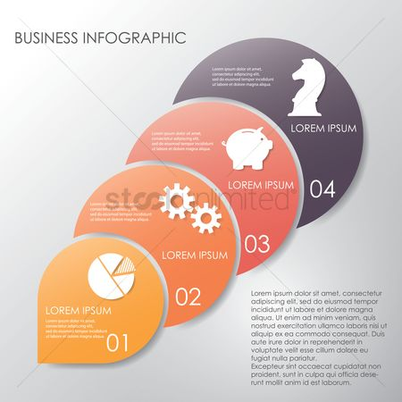 Cogwheels : Business infographic
