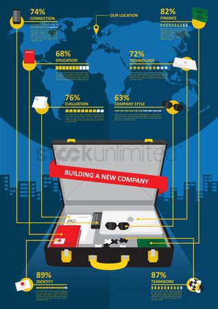 Building : Business meeting infographic