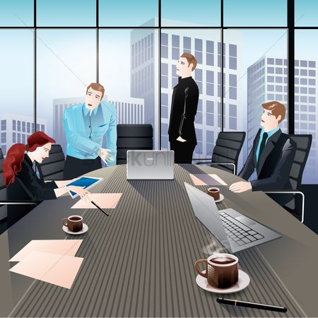 Office  building : Business meeting
