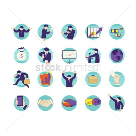 Sack : Business people icon set